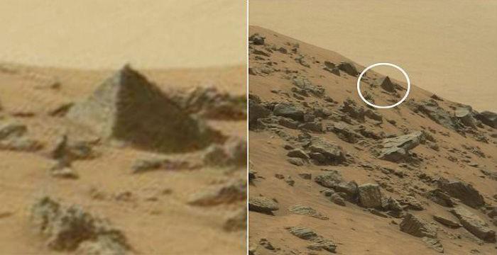 Ακριβές αντίγραφο πυραμίδας εντοπίστηκε στον Αρη