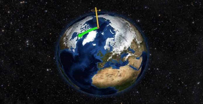 Ο άξονας περιστροφής της Γης μετανάστευσε προς τον Καναδά και τώρα πλησιάζει την Αγγλία σύμφωνα με την NASA