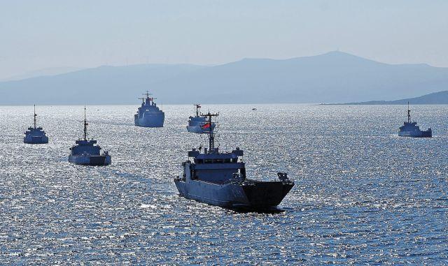 Τουρκική άσκηση ΓΑΛΑΖΙΑ ΠΑΤΡΙΔΑ νότια της Κρήτης